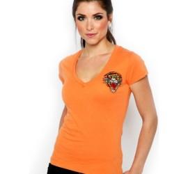 camiseta bordada em laranja diversas cores
