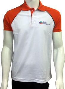 b97f51163 Podemos personalizar a camisa polo com cores diferentes nas golas